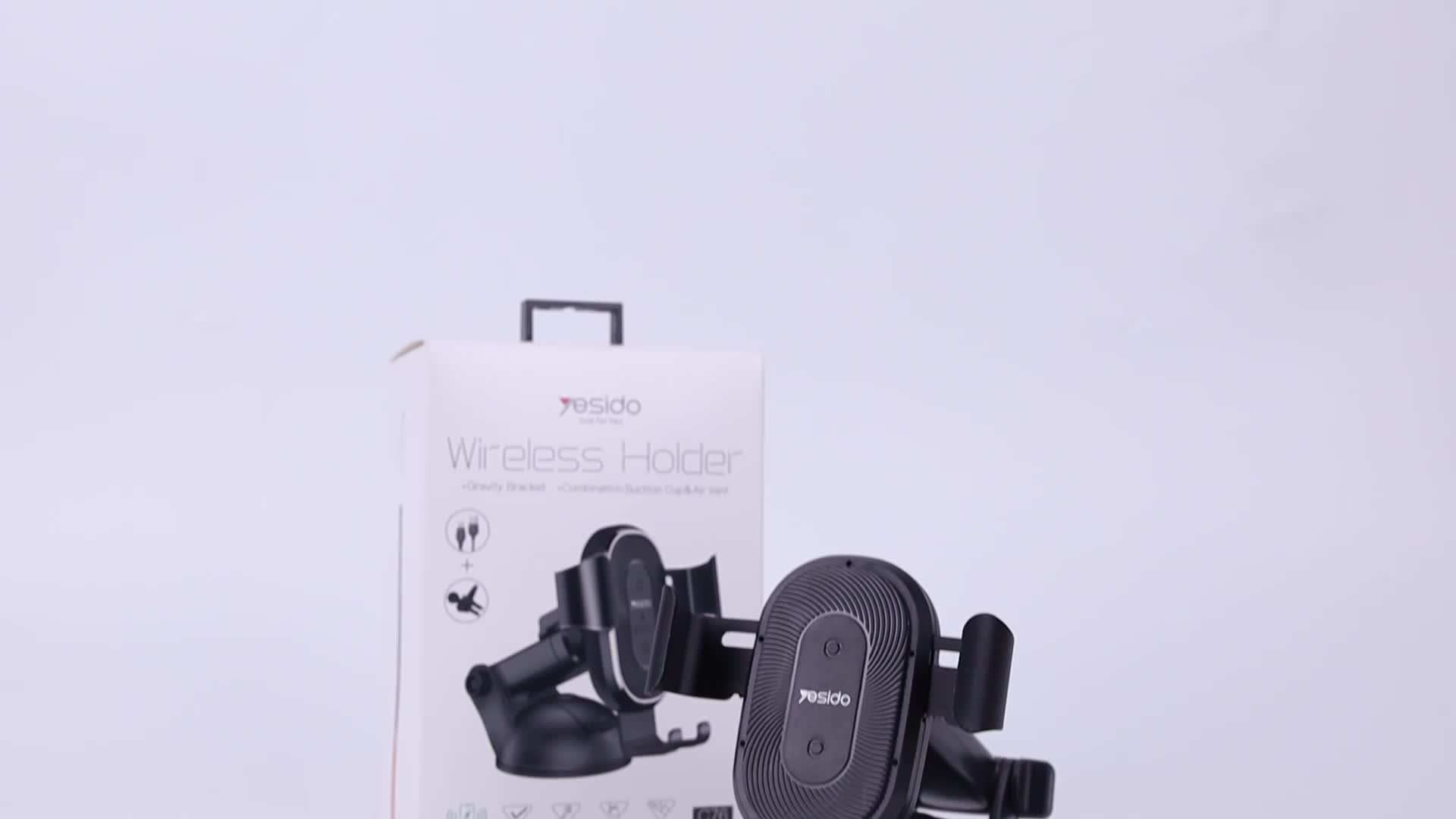 China Manufacture Air Vent Wireless Charging Mount Holder 10W Gravity  Car Phone Holder Wireless Charger