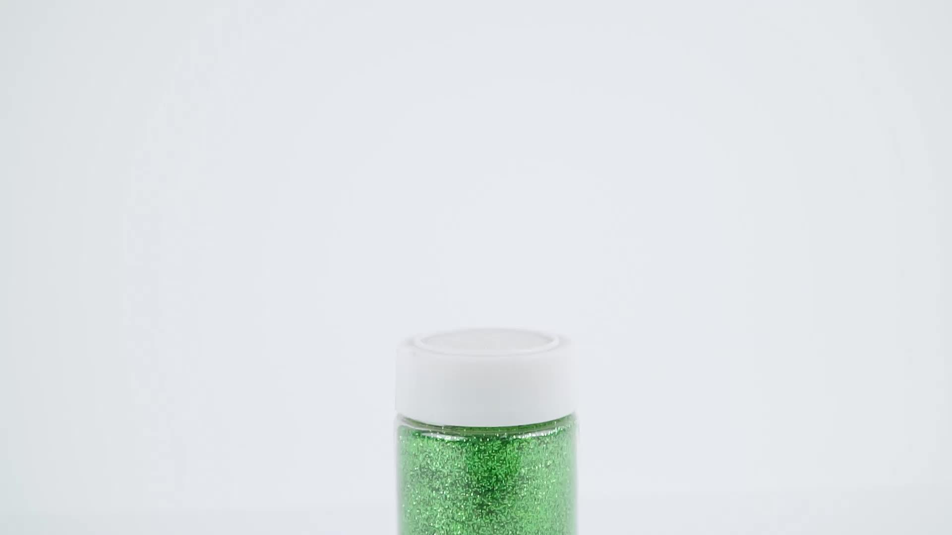 थोक पर्यावरण के अनुकूल wholesales पालतू सुंदर चमकदार धातुई चमक पाउडर के लिए क्रिसमस DIY शिल्प सजावट