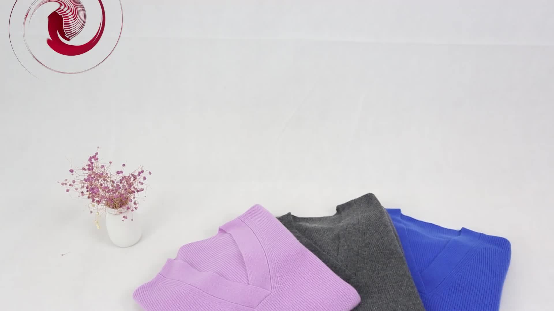 Comprar calidad muestra V cuello suéter de cachemira suéter de las mujeres