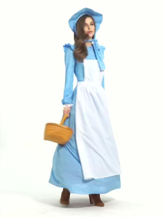 Cadılar bayramı kostüm süslü elbise alice in wonderland hizmetçi cosplay yetişkinler için kostüm kadınlar