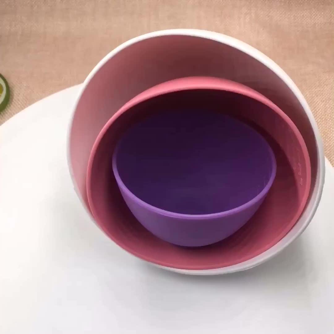 BPA бесплатная Мягкая силиконовая маска для лица чаша салон красоты DIY лицевая Гибкая силиконовая маска смешивания чаша