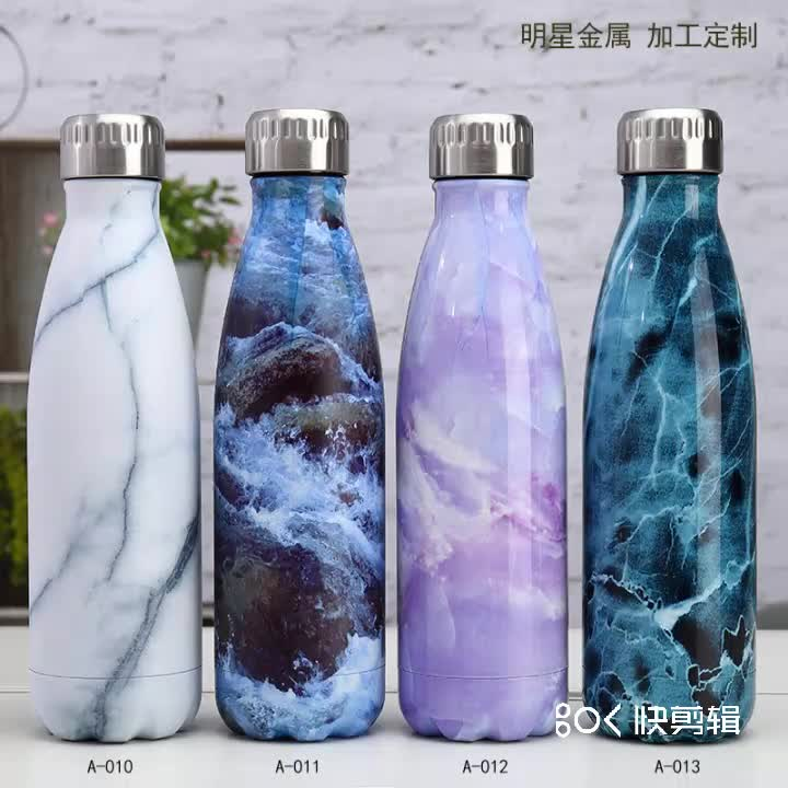 500ml Chilly Double walled Insulated Vacuum Flask Stainless steel Water bottle Cola shape Sport bottle
