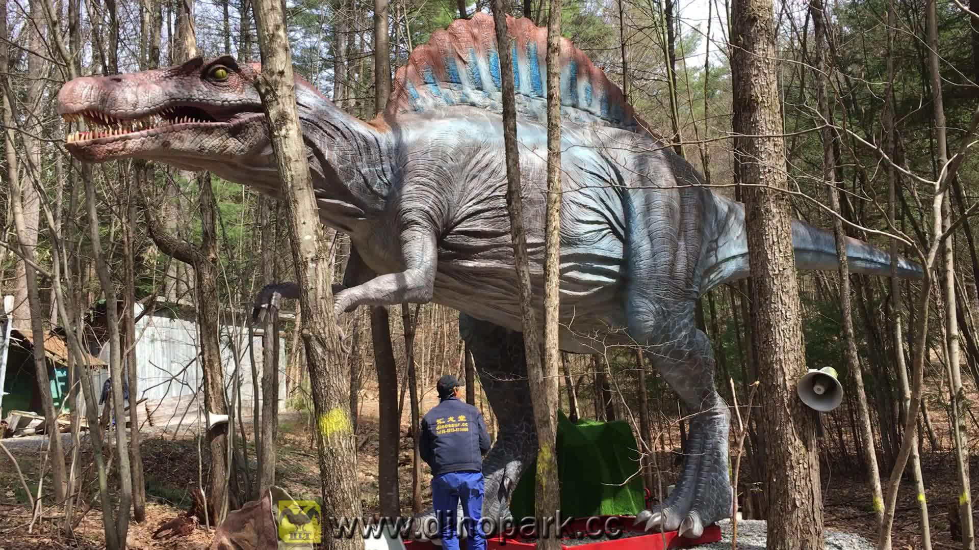 HLT Lifesize מלאכותי יורה מכאני דינוזאור ספינוזאור עבור פרק
