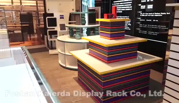 New retail clothing store display for clothes shop furniture wooden clothes display rack