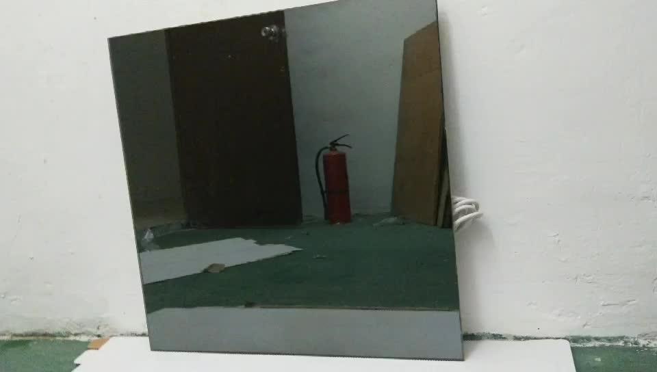 Wall Mounted Bathroom Room Carbon Fiber Mirror Electric