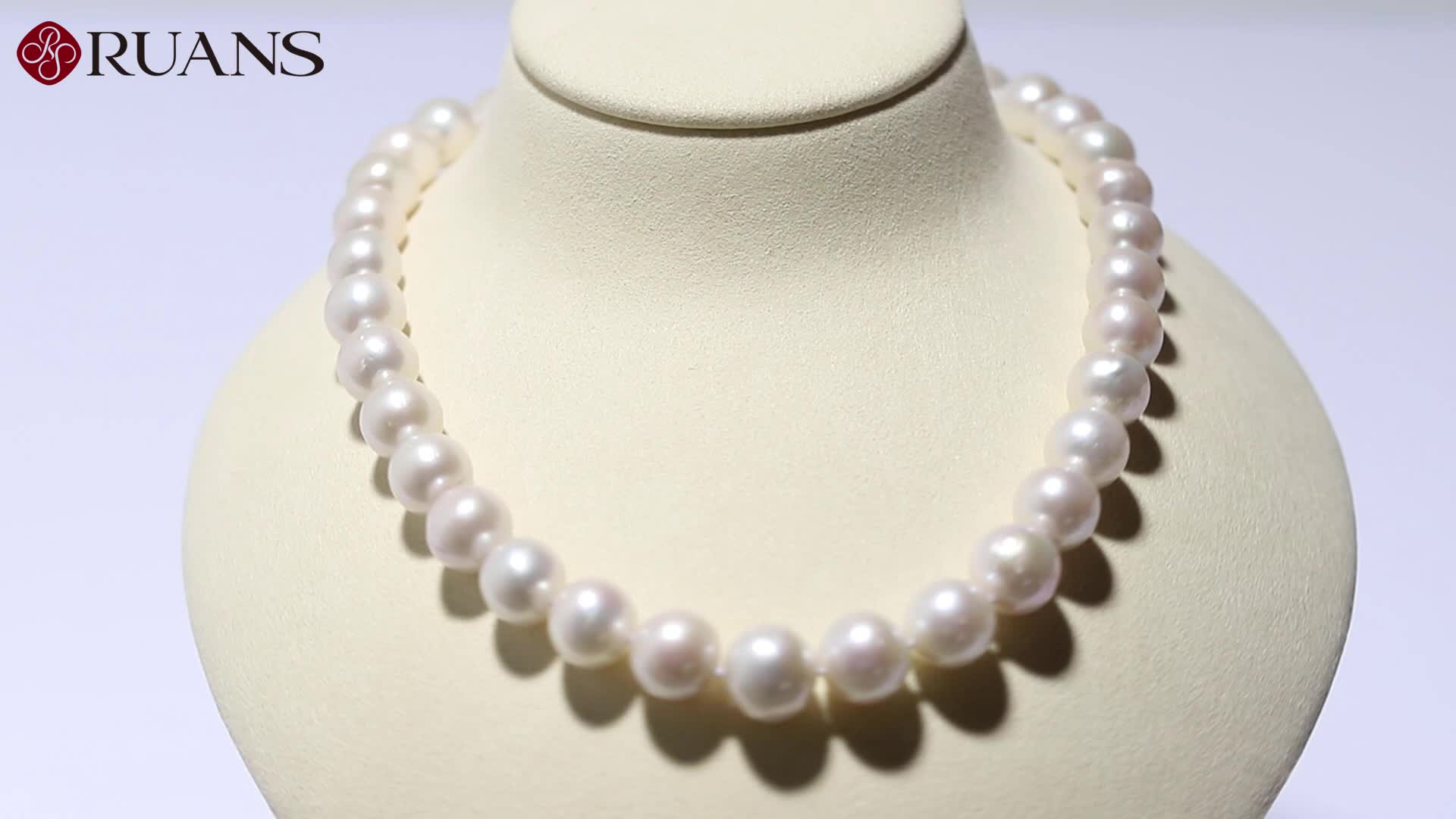 Classic 12mm Near Round Freshwater Pearl Necklace With Silver Clasp