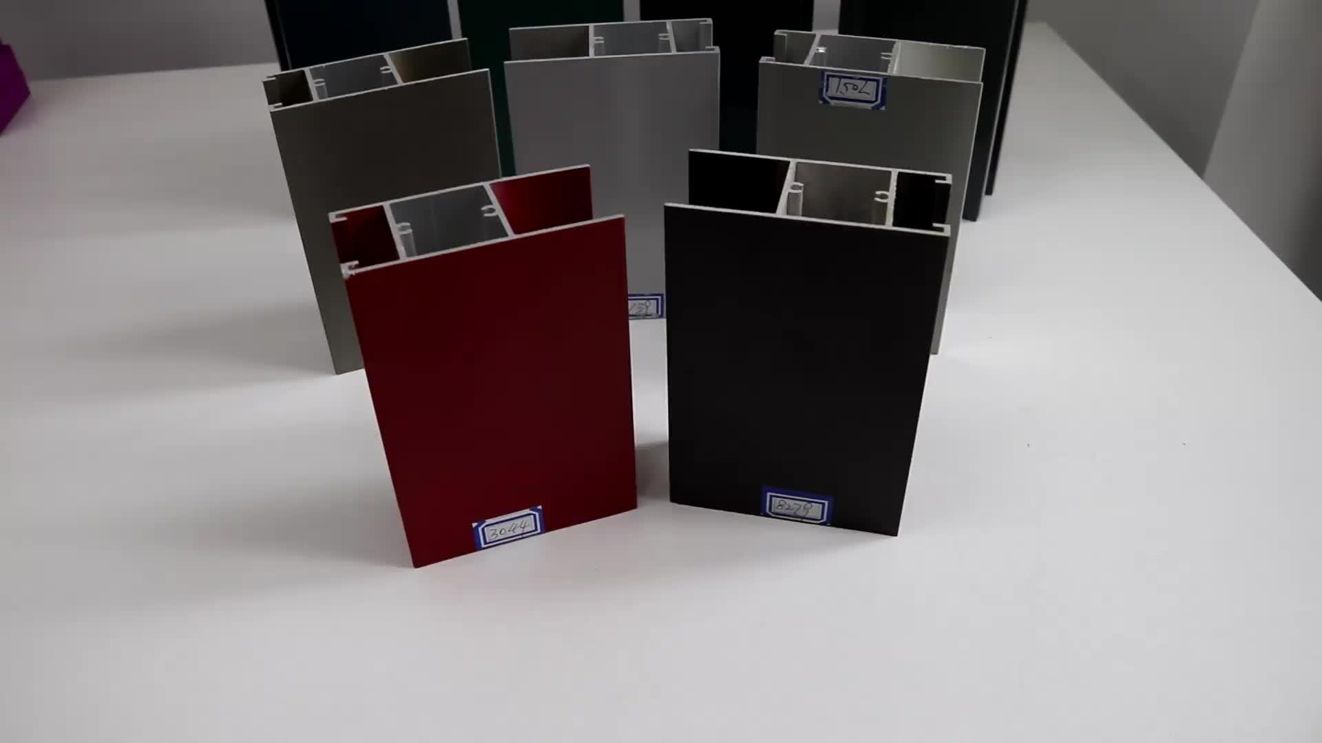 T Forma Muitas Cores de Perfuração 6063 T5 Perfis de Extrusão de Alumínio Para Janelas E Portas