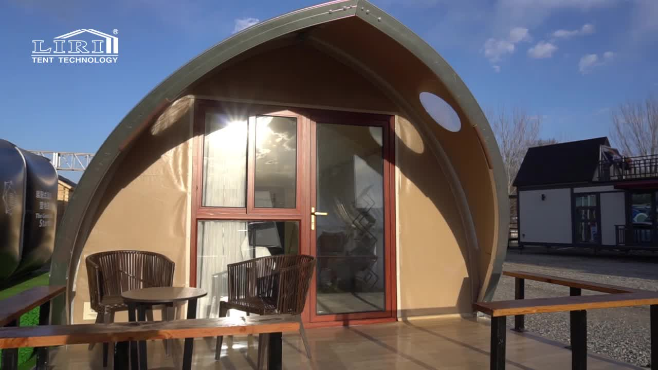 Outdoor Modular Used Shell Shape Luxury Glamping Safari Resort Tent for Sale Florida
