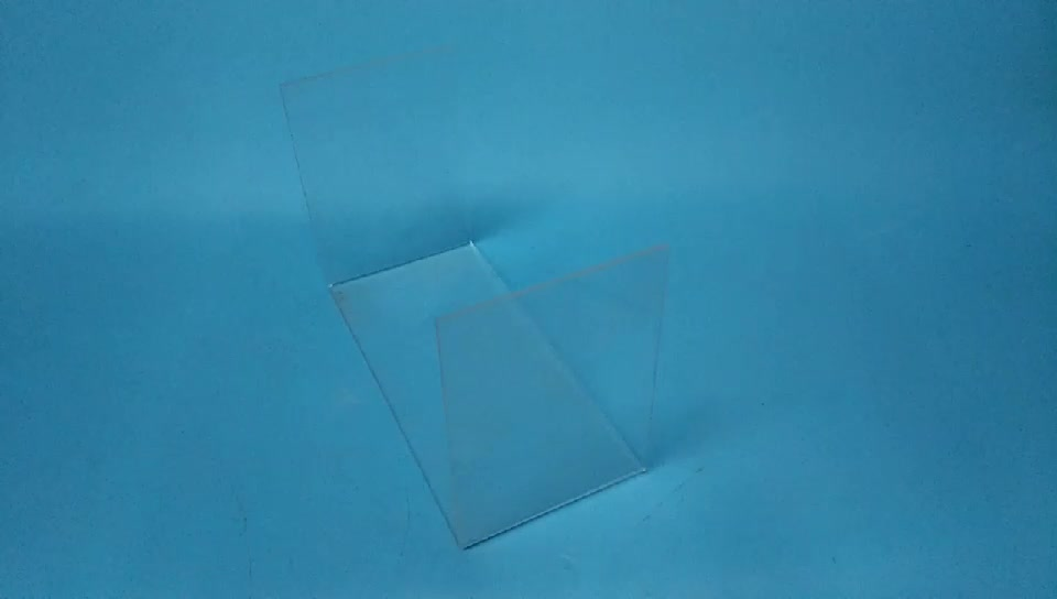 Clear Acrylic Display Rack For Teal Blue Jute Pillow