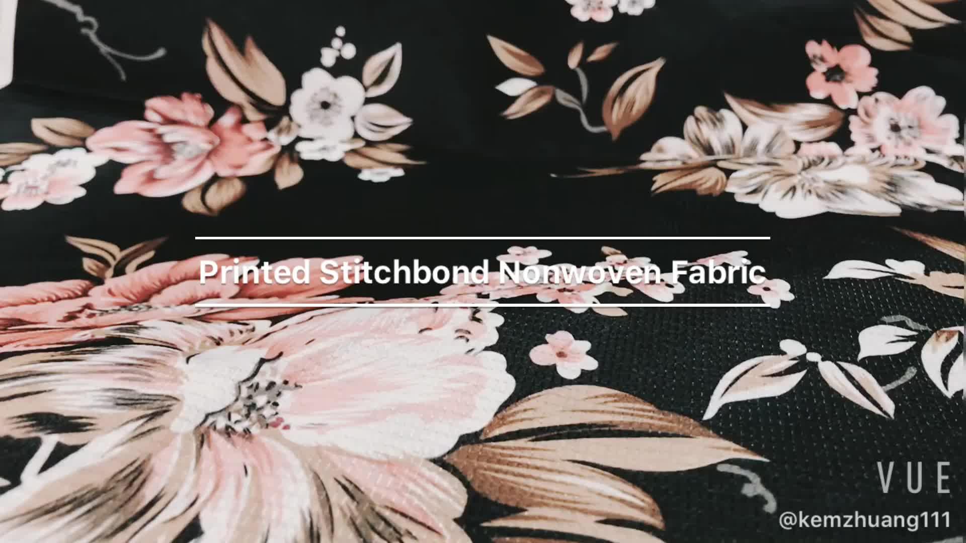 100% Stitch Bonding Geweven Stof, matras Recycle Pet Polyester Geweven Stof