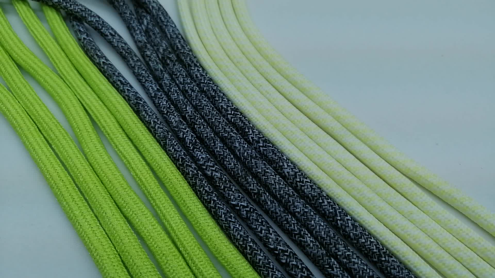 Braided round polyester  hoodie string metal tips draw cord