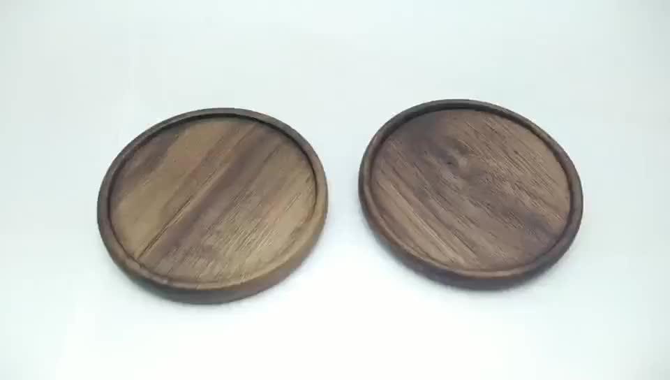 Natural Walnut Wood Heat Insulation Placemats