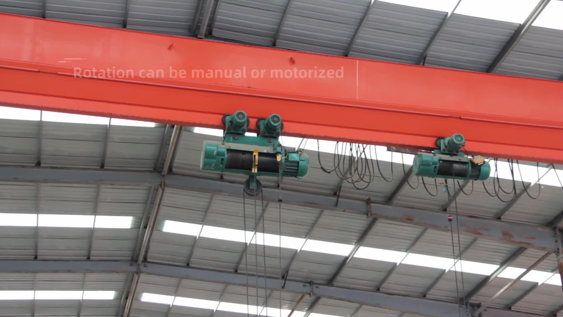 1 2 3 5 tonnes Prix De L'équipement De Levage pour la grue de pont