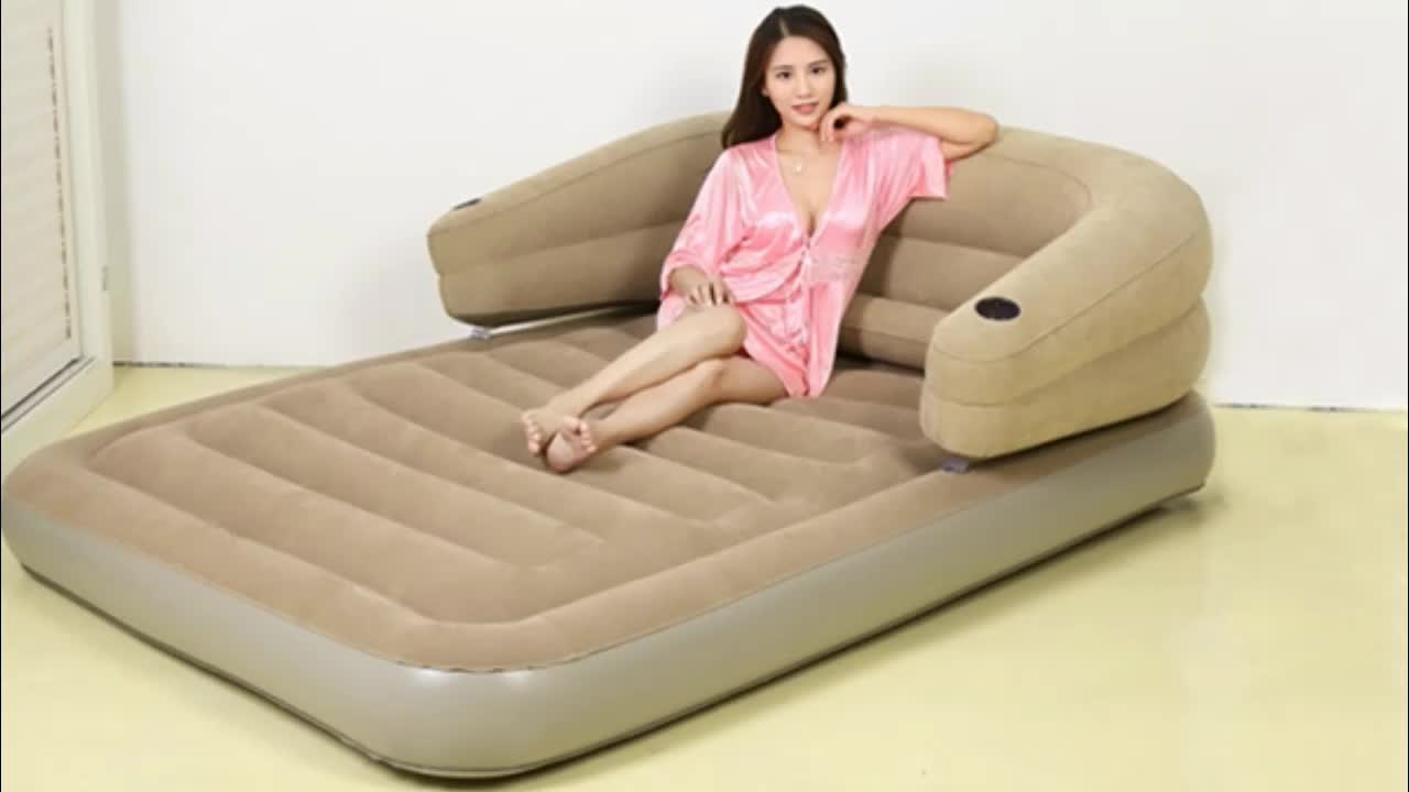 Cheap Multi-function 5 in 1 PVC Inflatable Air Sofa Bed with Factory Price
