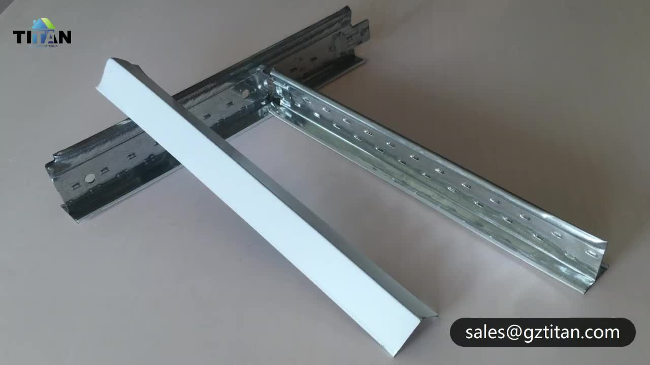 Galvanized Steel T24 Flat T Bar Suspended Ceiling T Grid Components
