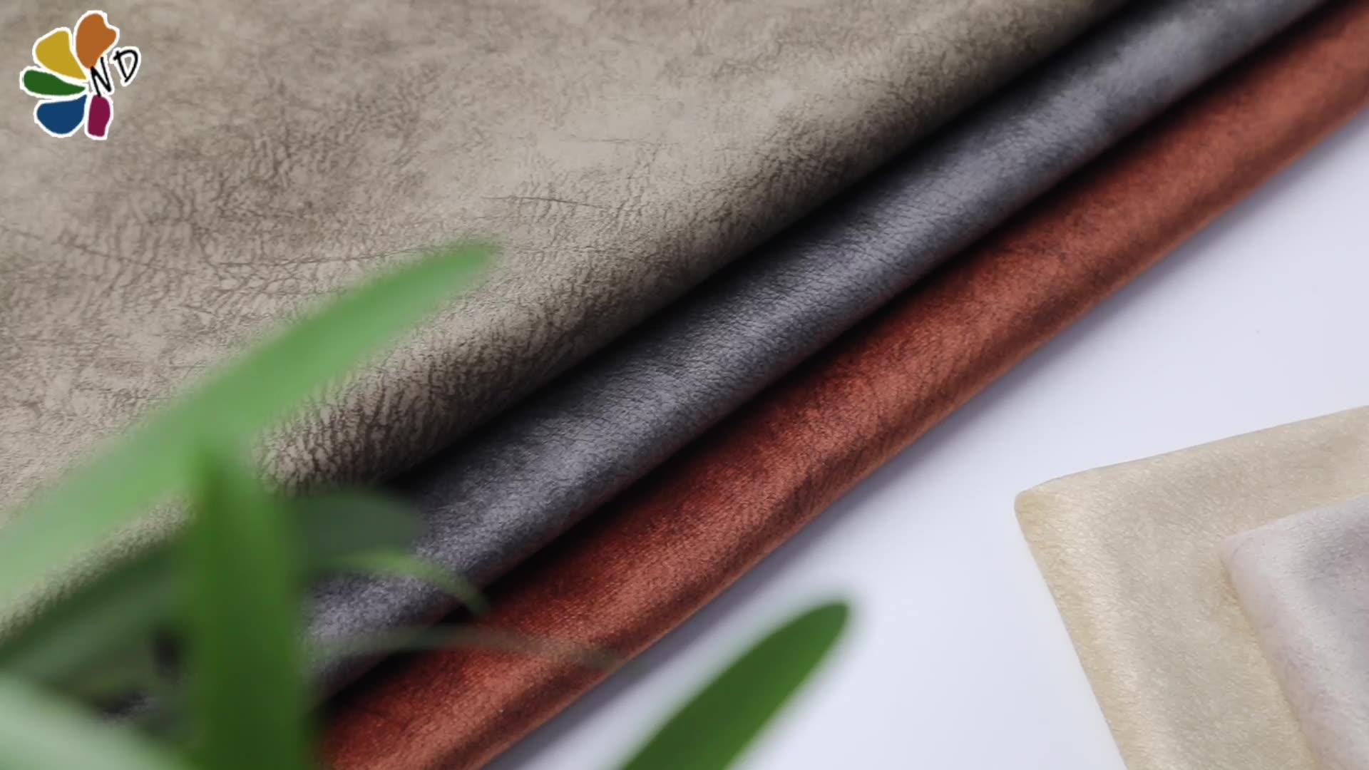 Toptan moda tasarım shaoxing Kristal Süper Yumuşak Baskılı Kadife Kumaş kanepe