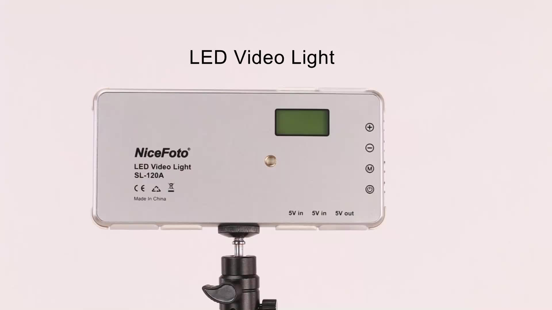 NiceFoto SL-120A LED Video Light photo lighting camera light battery pack for mobile charge video  equipment
