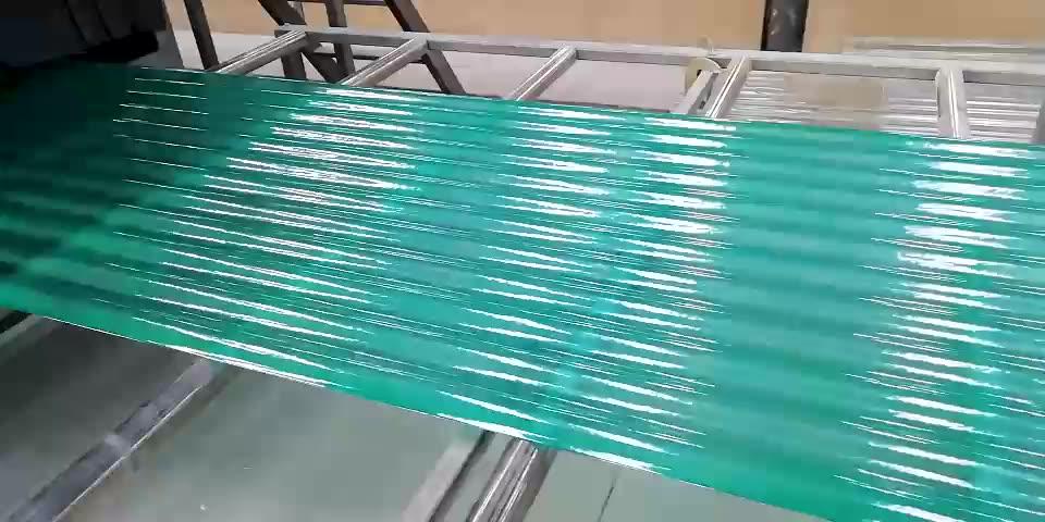 Fibre FRP en fibre DE verre polyester ondulé feuille de toiture faisant la machine