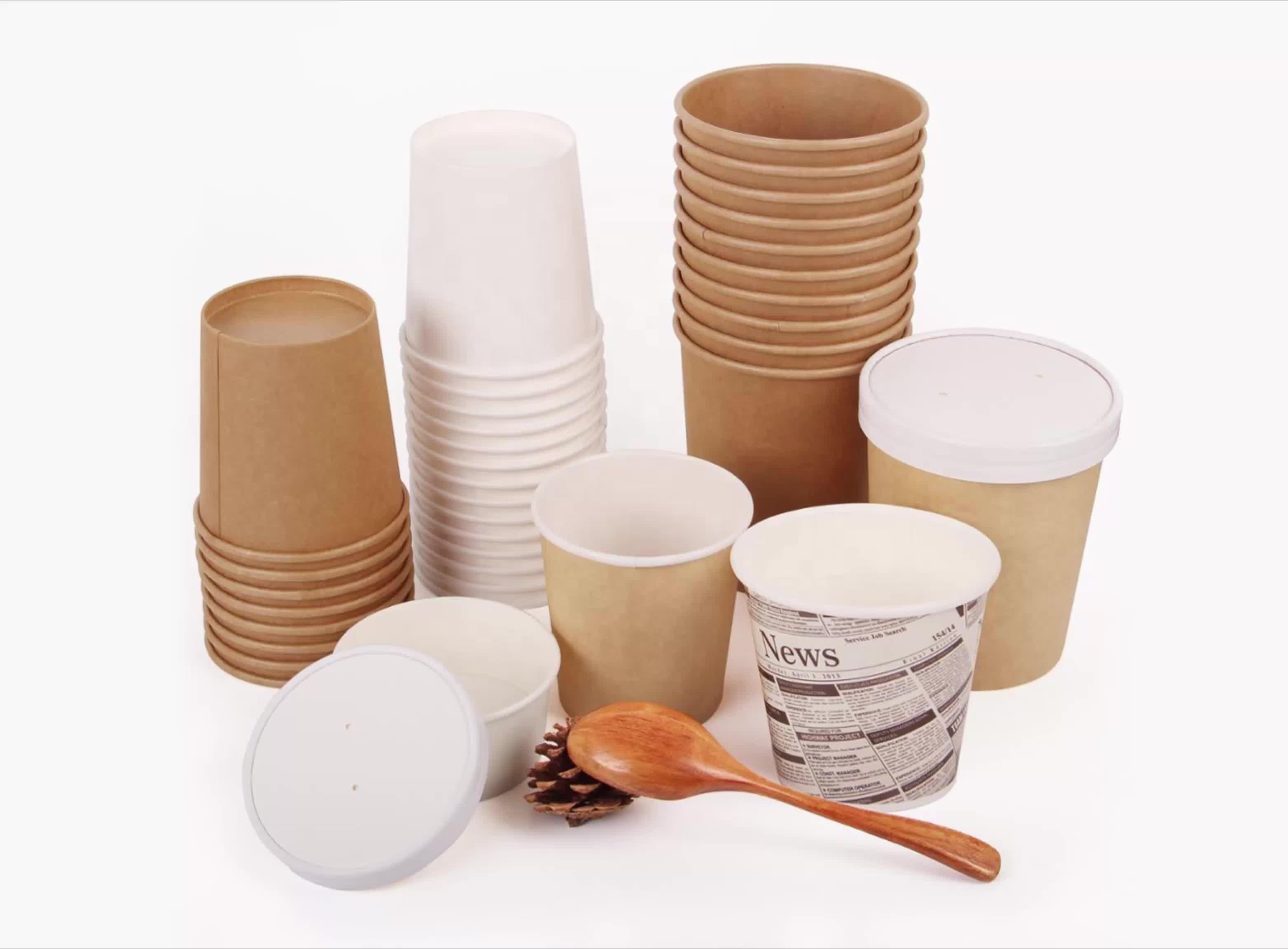 Wegwerp papier soep cup met custom printing, wegwerp cups voor soep