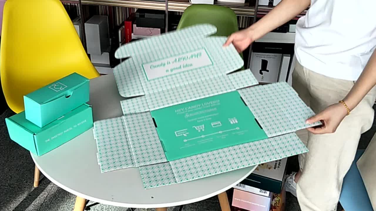 Logo personnalisé imprimé petit emballage ondulé expédition boîtes en carton fabricants boîte aux lettres