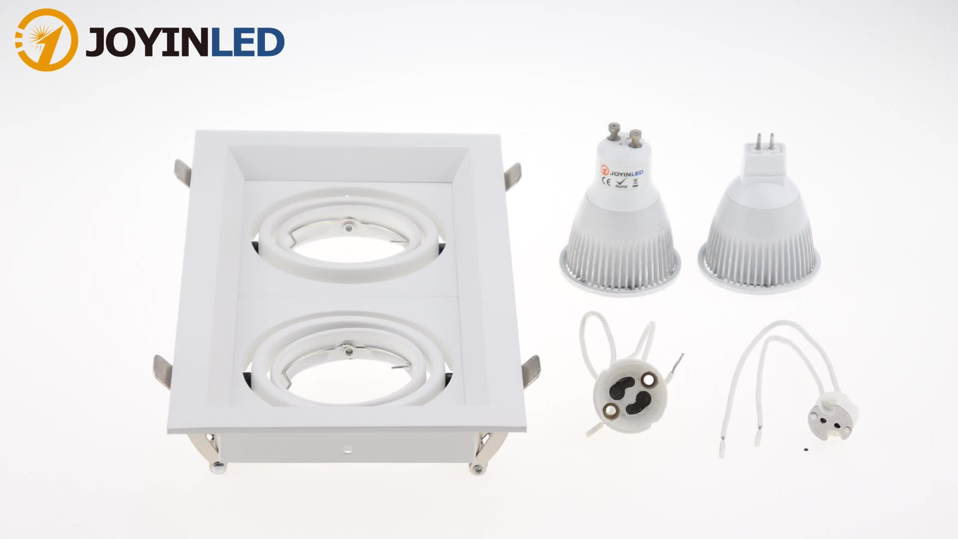 Manufacture Directly Supply Aluminum Iron Square Double Heads GU10 MR16 LED Spotlight Light Fitting