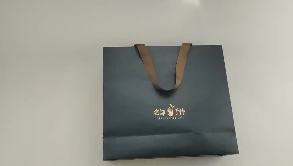 Customized Logo Necklace Pakckaing Jewelry Paper Bag