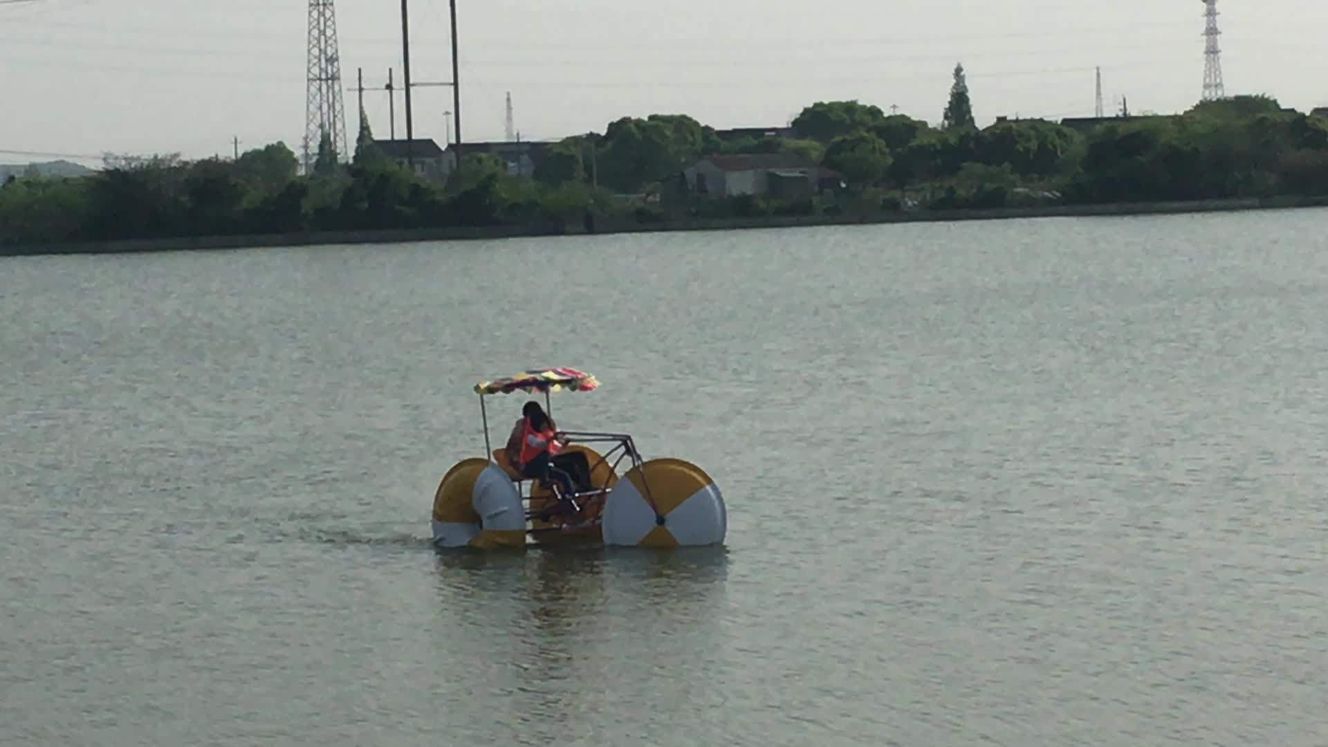 Cheap double person water bike pedal boats for sale