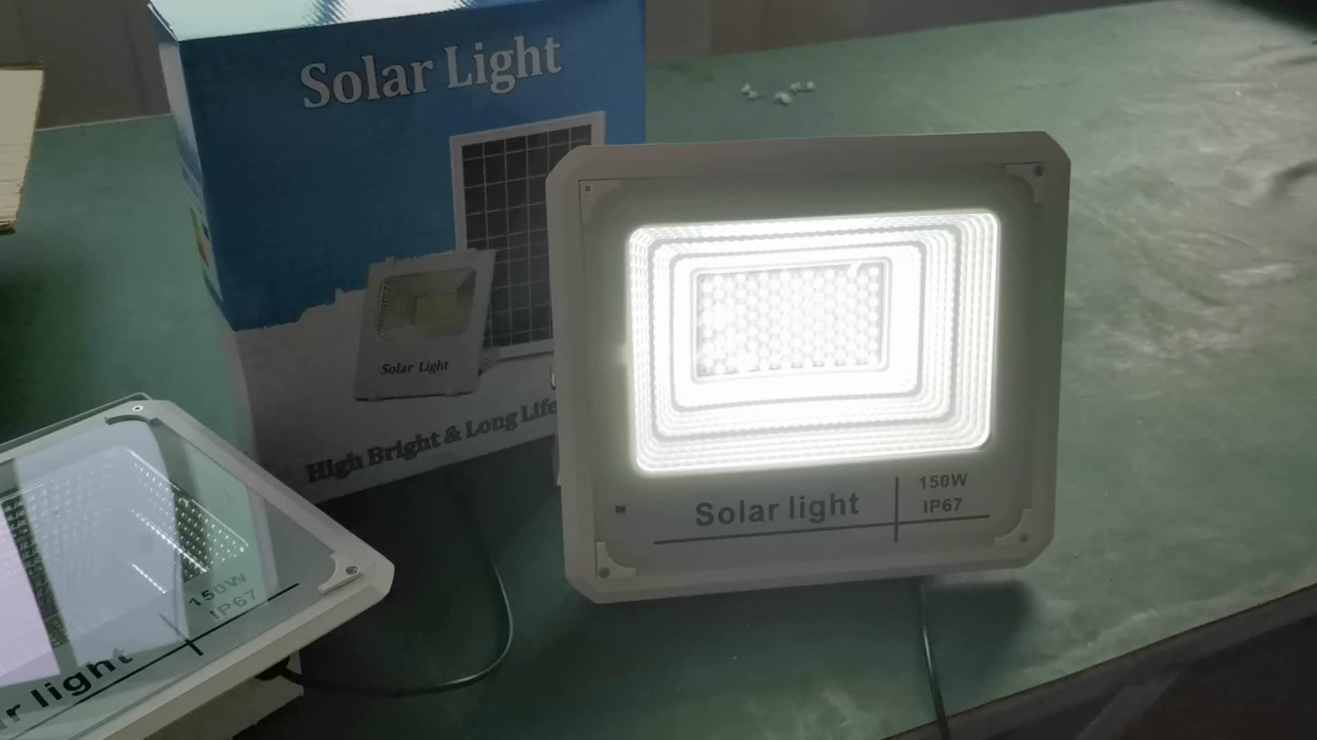 Luces solares de alumbrado público de alto lumen, iluminación de pared de 200 W, luz led de inundación de 400w