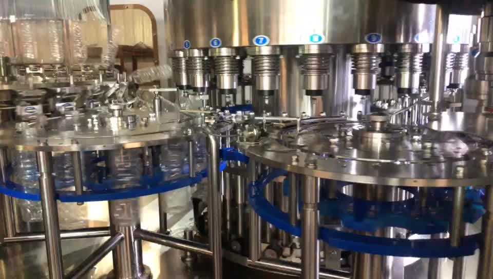 Pure mineral water bottle filler production line