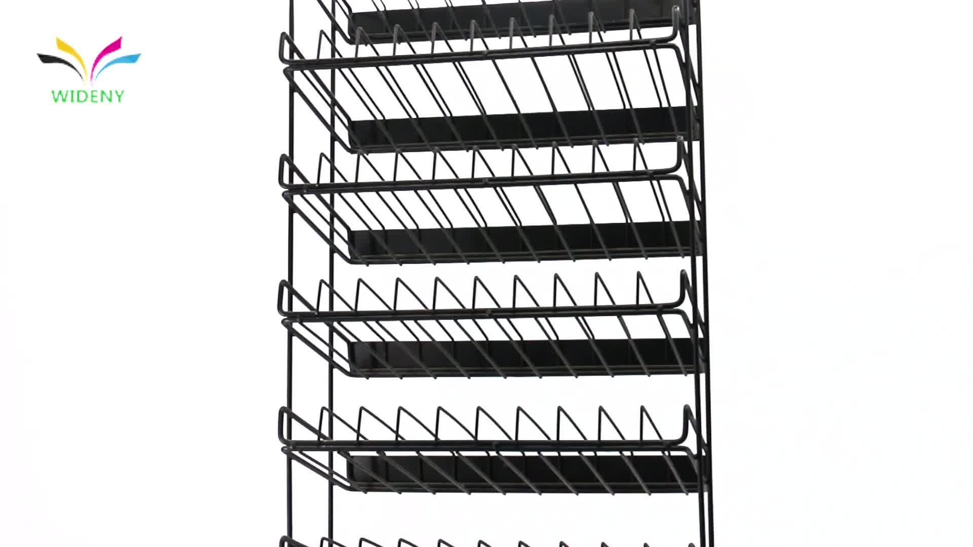 3 स्तरीय मंजिल foldable कुकी सुपरमार्केट किराने की दुकान खड़े हो जाओ खाद्य फल रोटी टोकरी के साथ लौह धातु वायर भंडारण प्रदर्शन रैक