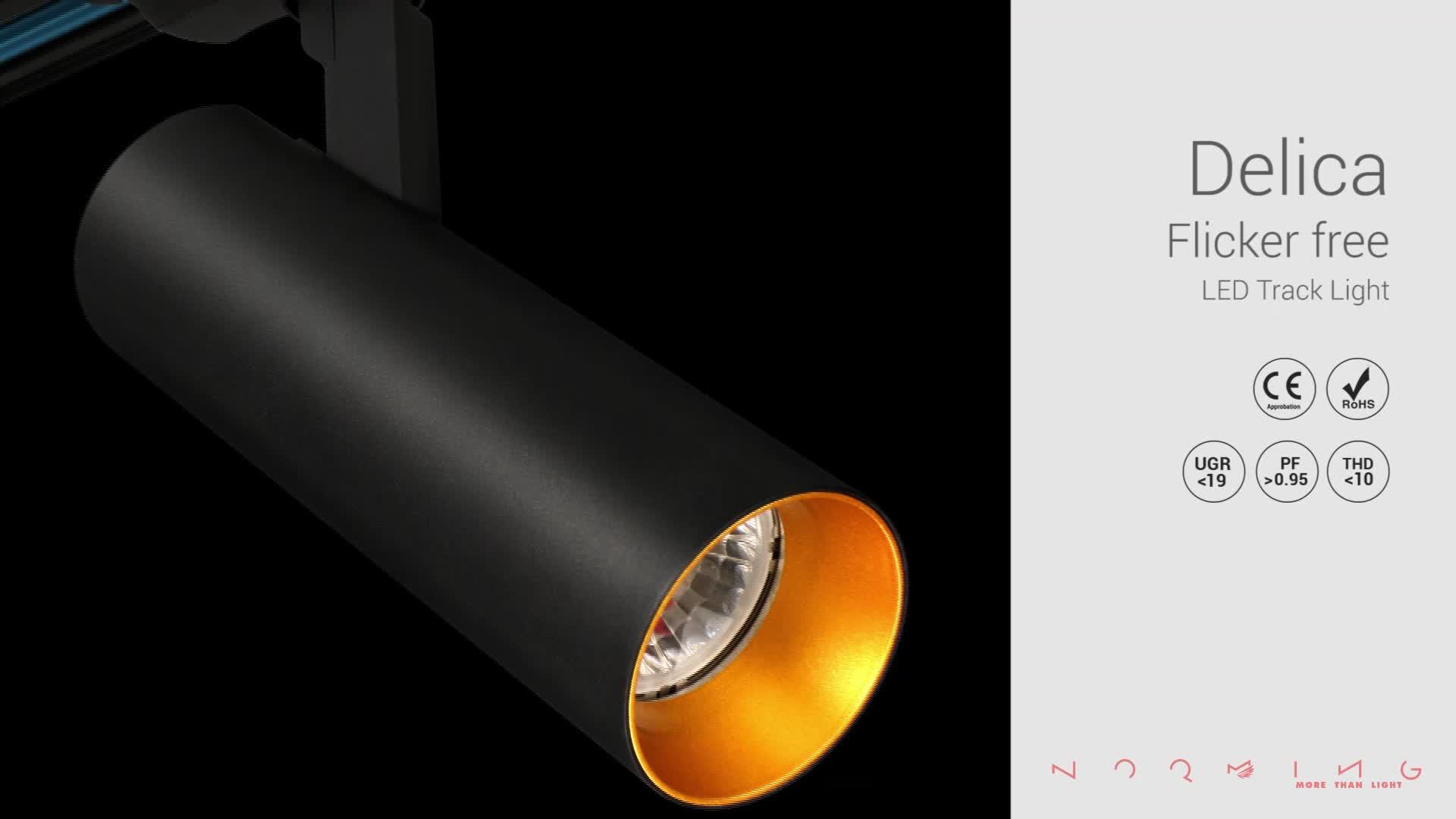 Warm White Sandy White Dimmable Anti Glare CRI90 20W 25W LED Track Light