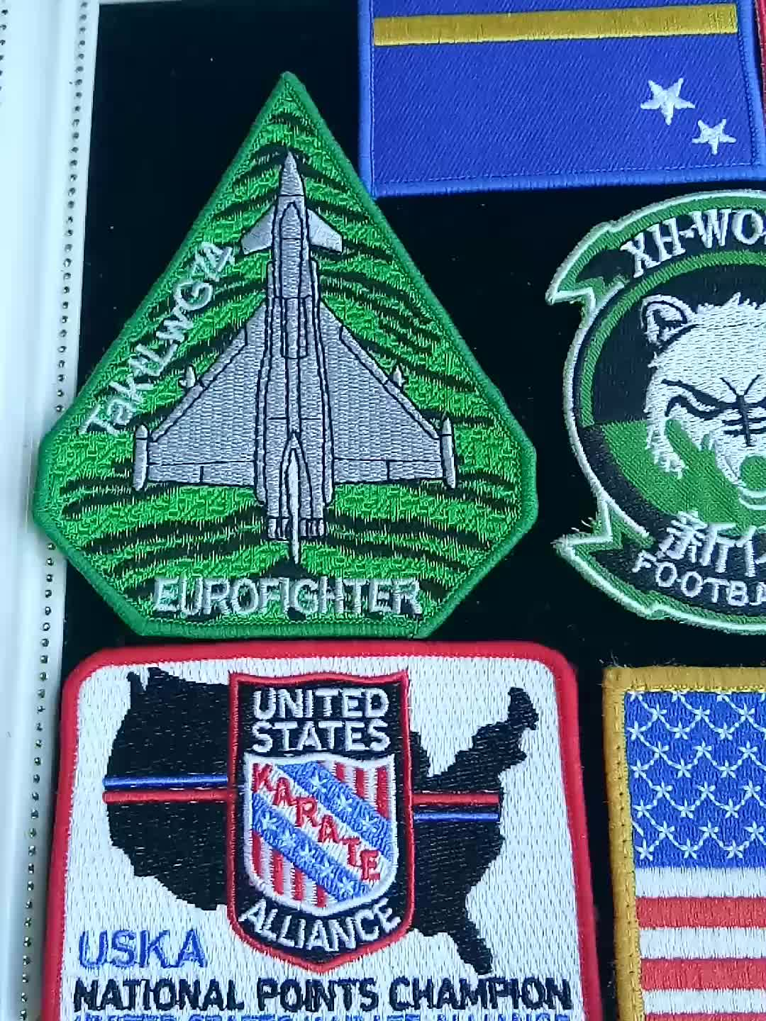 Custom embroidered arm patches