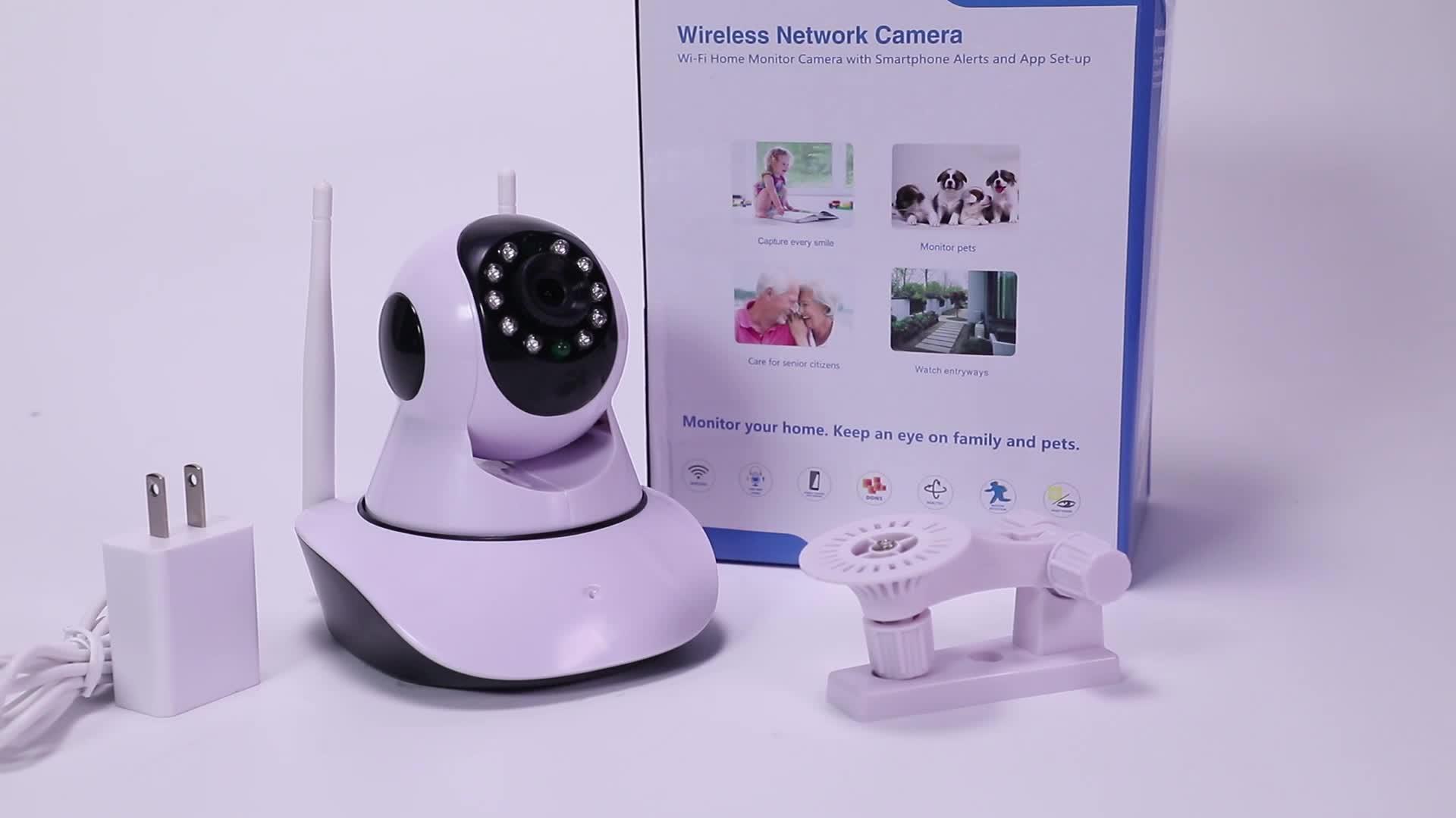 ほとんど人気イージーホーム小 ptz 720 p ONVIF IP カメラと無線 lan カメラ