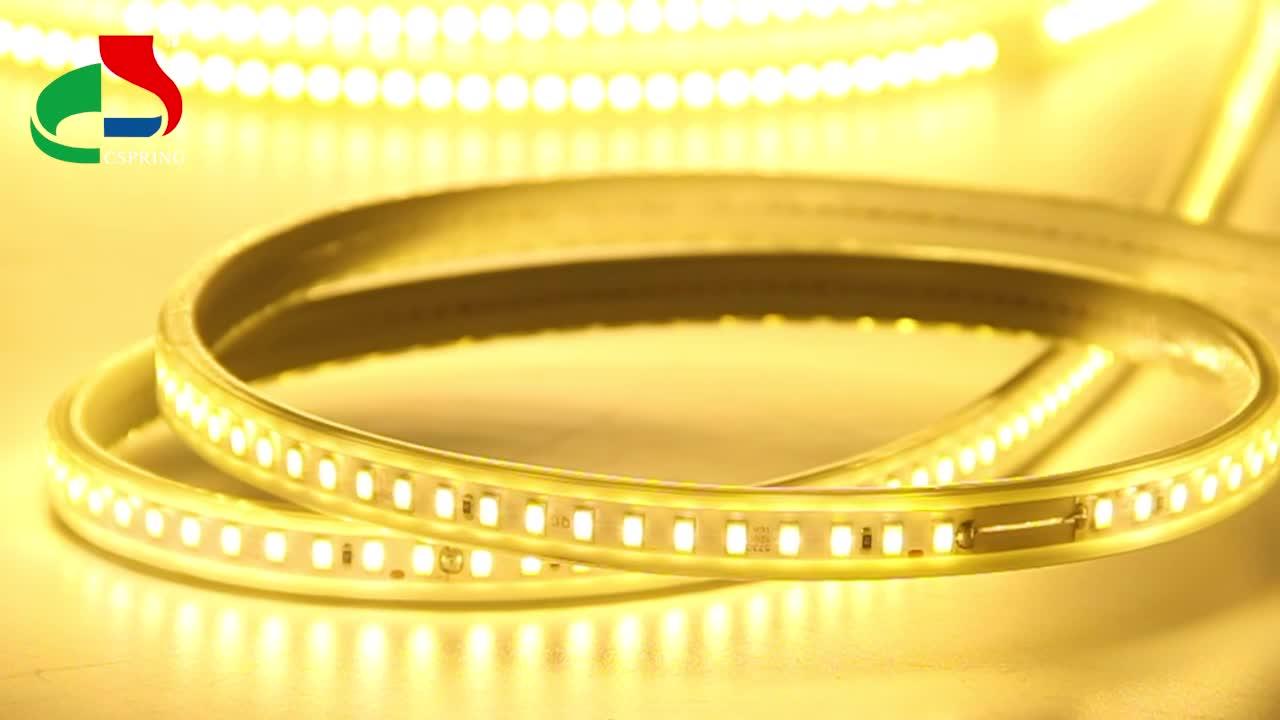 SMD 3014 2835 5050 5730 LED Flexible Strip Light IP65 220V Warm white 120LEDs/m