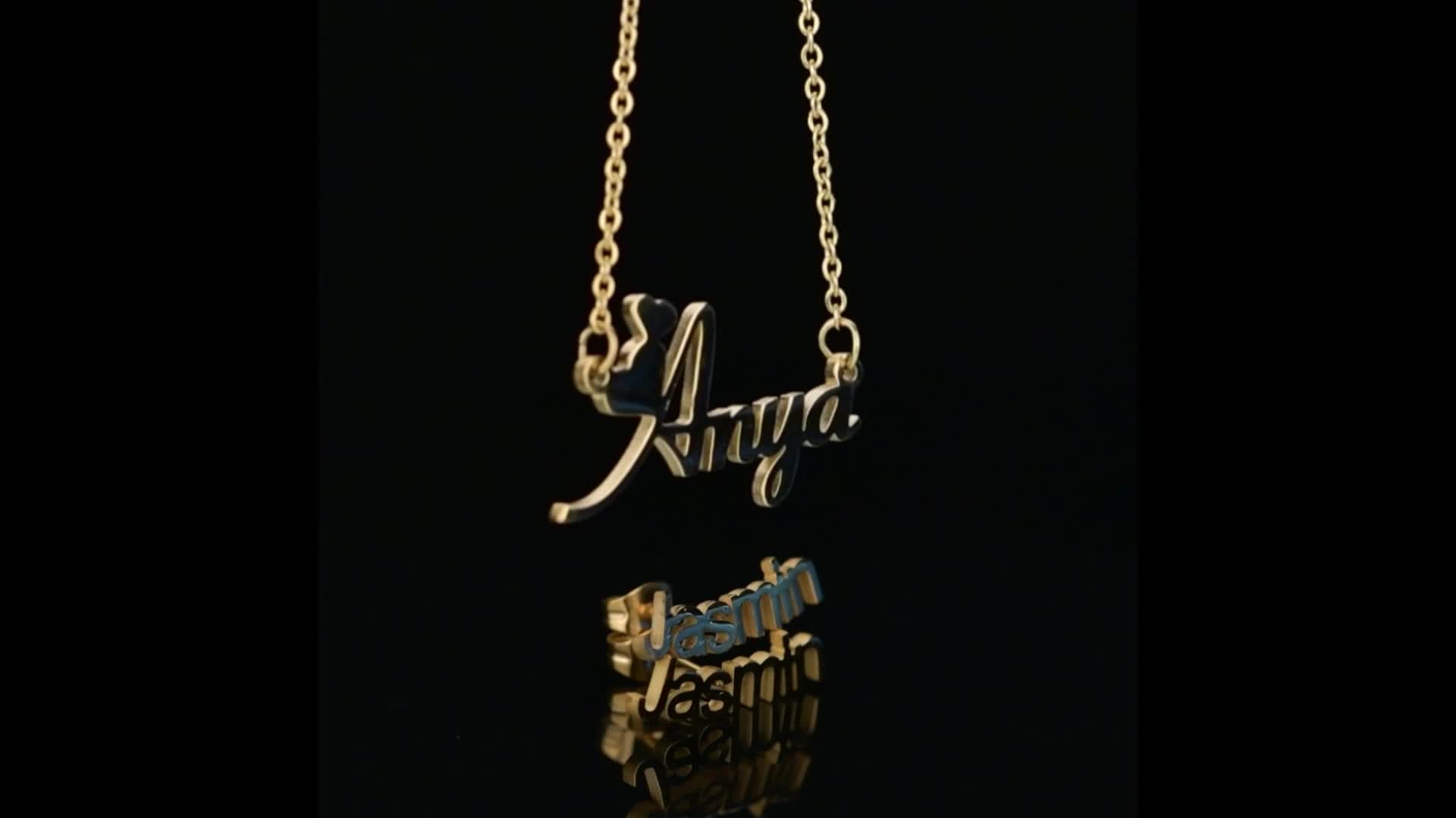 Modalen Gold Plated Letter Pendant Custom Dainty Personalized Name Necklace