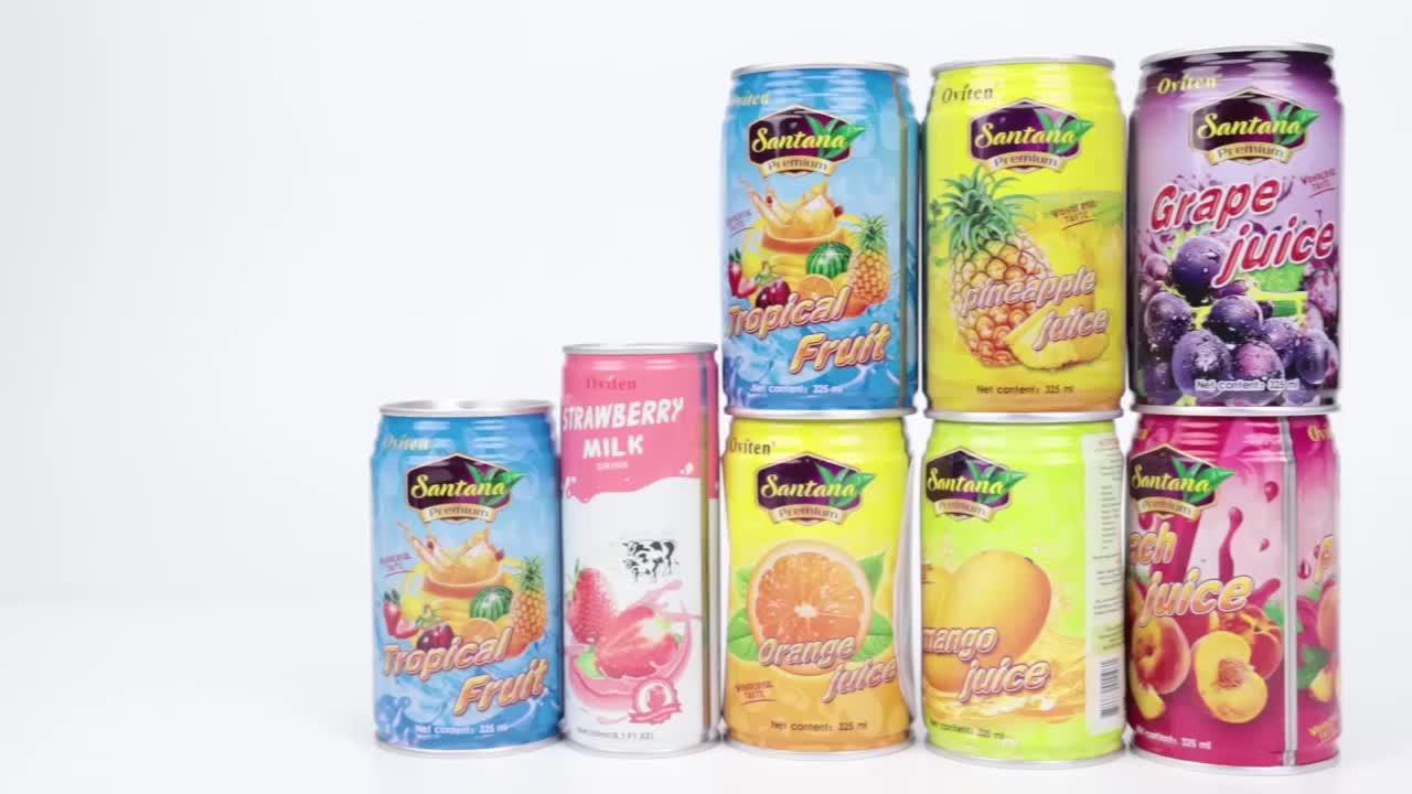 Oviten Verse Smaak Ananas Vruchtensap Drinken 24*325ml Lage Vet Drinken