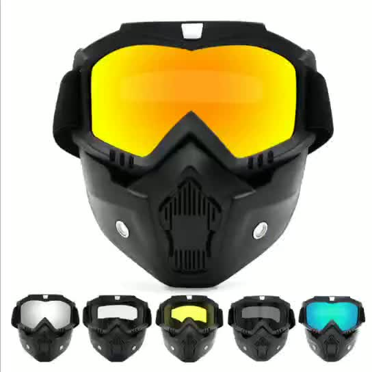 High quality full face customized logo paintball mask with goggles