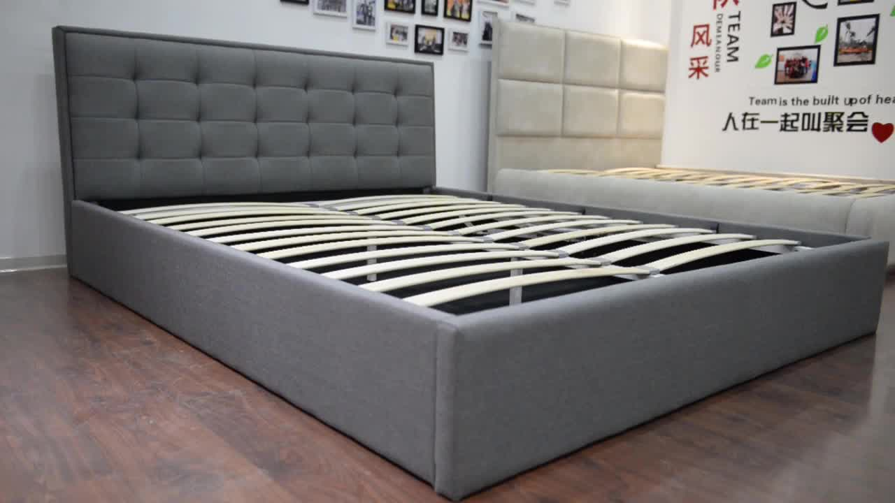 Hot sell modern new design single size cheap Fabric Bed
