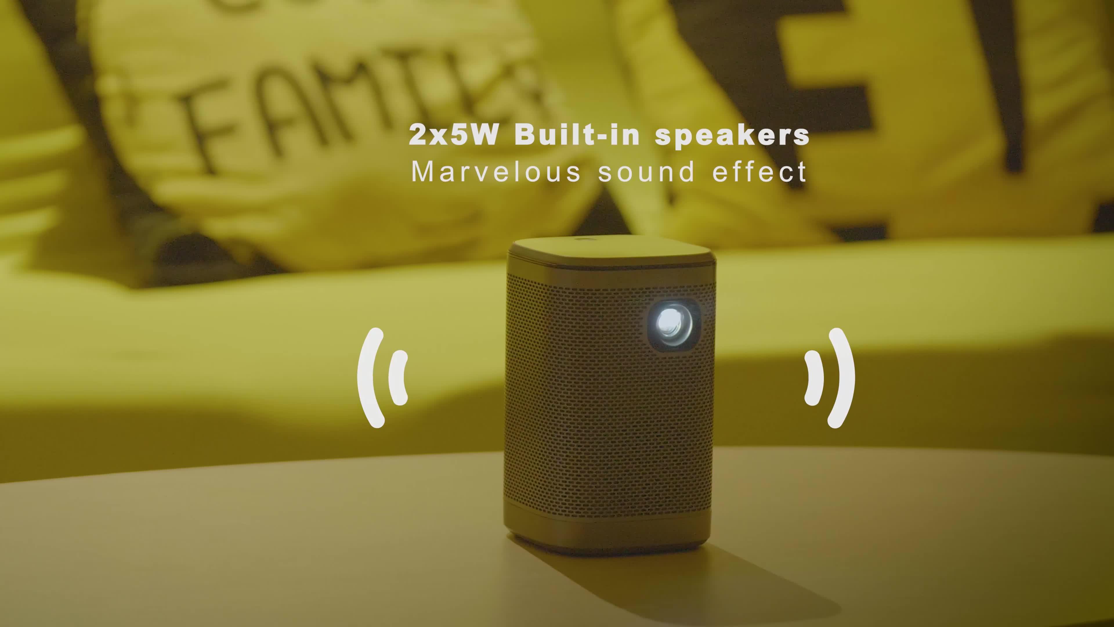 Chất Lượng Cao Mini Thông Minh LED Xách Tay Máy Chiếu 4K DLP Android Chiếu Bỏ Túi Với Gương Miracast AirPlay Và Được Xây Dựng Trong Loa