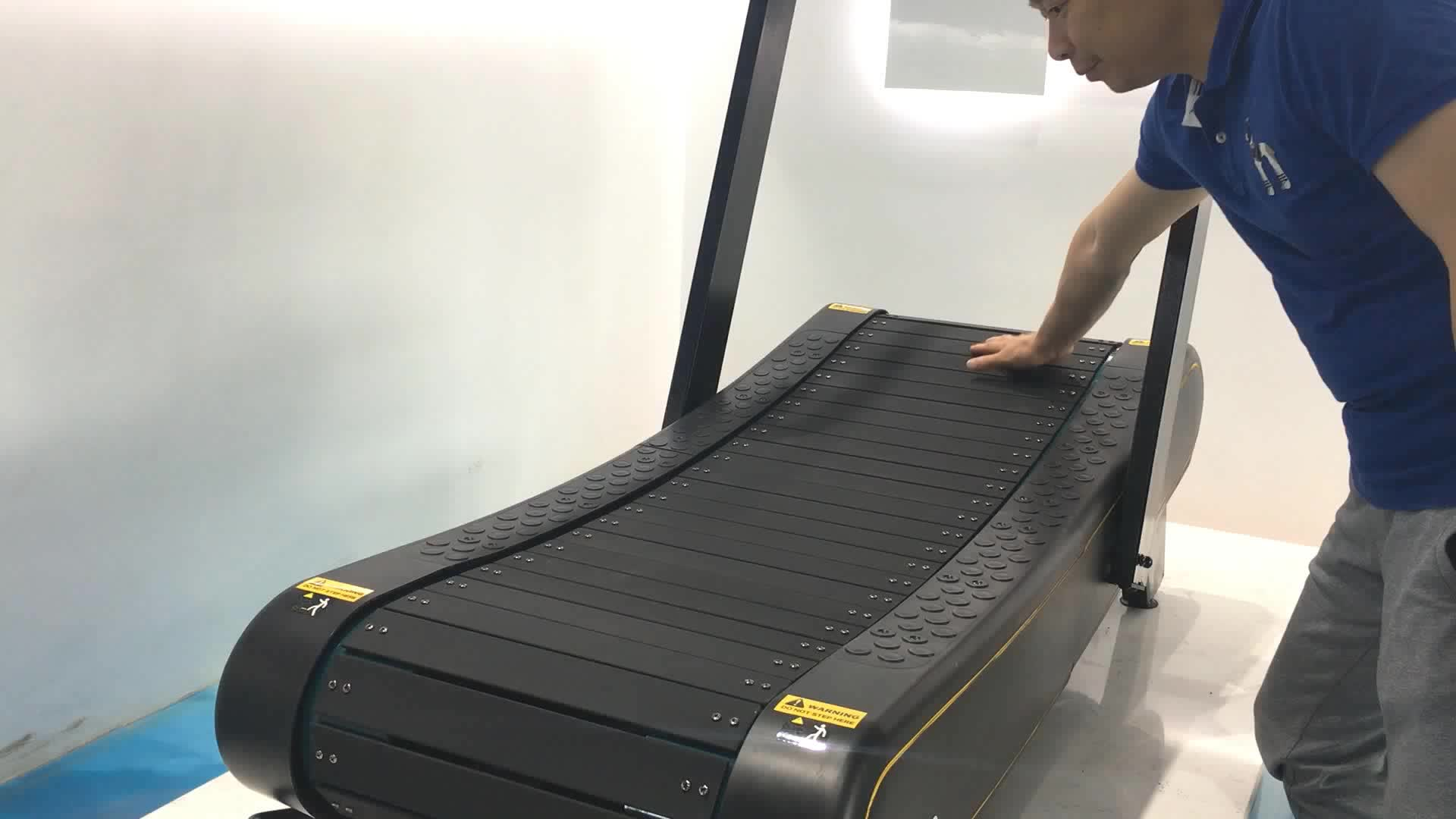 Gym fitness economic commercial woodway รูปแบบมอเตอร์คู่มือ curve treadmill เครื่อง treadmill home