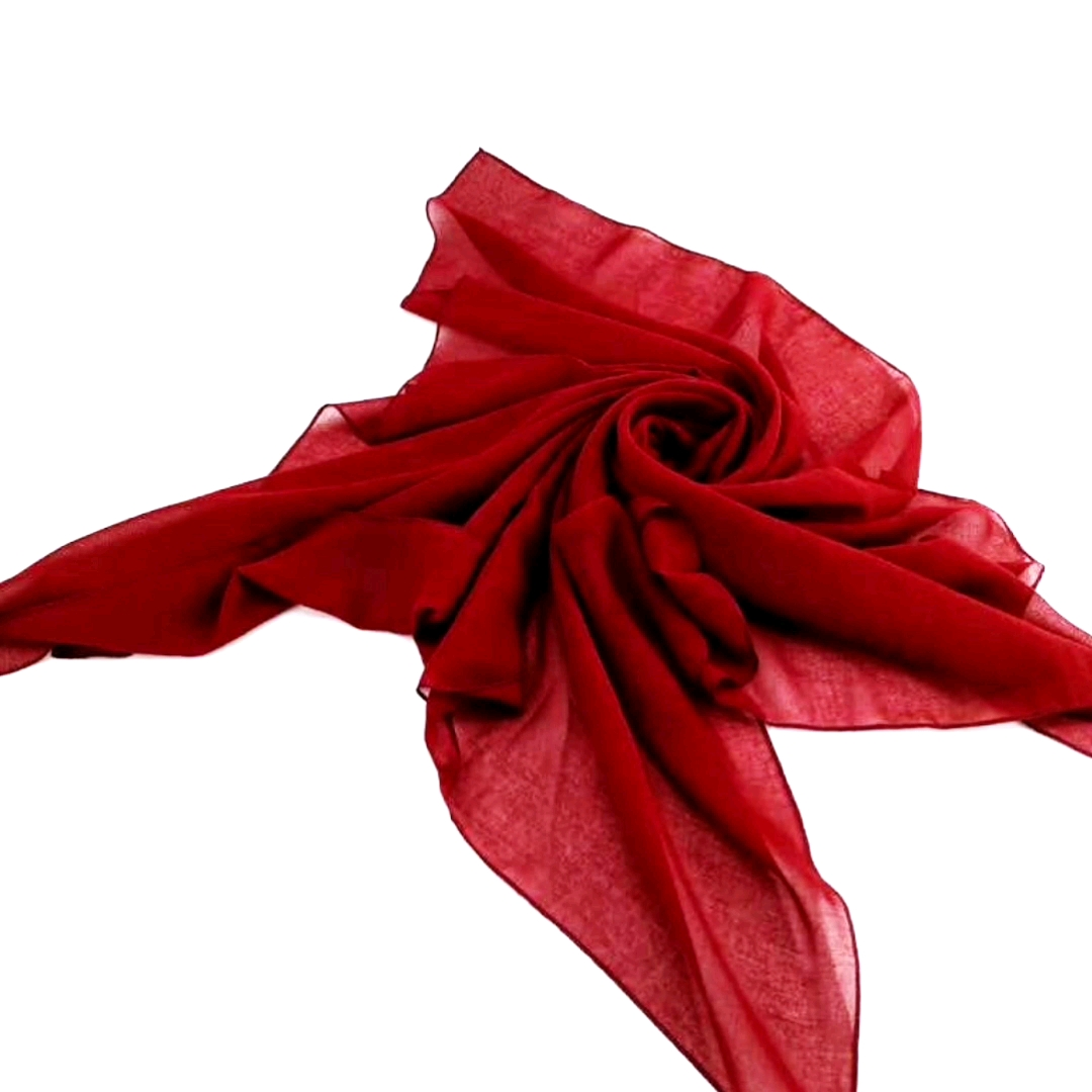 NO moq  fashion popular high twist  polyester scarf for Indonesia Turkey  Southeast Asia  Malaysia ladies