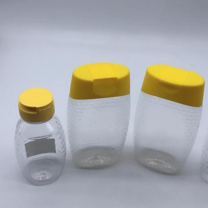 Yüksek kalite 360ml 500g plastik bal sıkma şişesi ile vidalı kapak