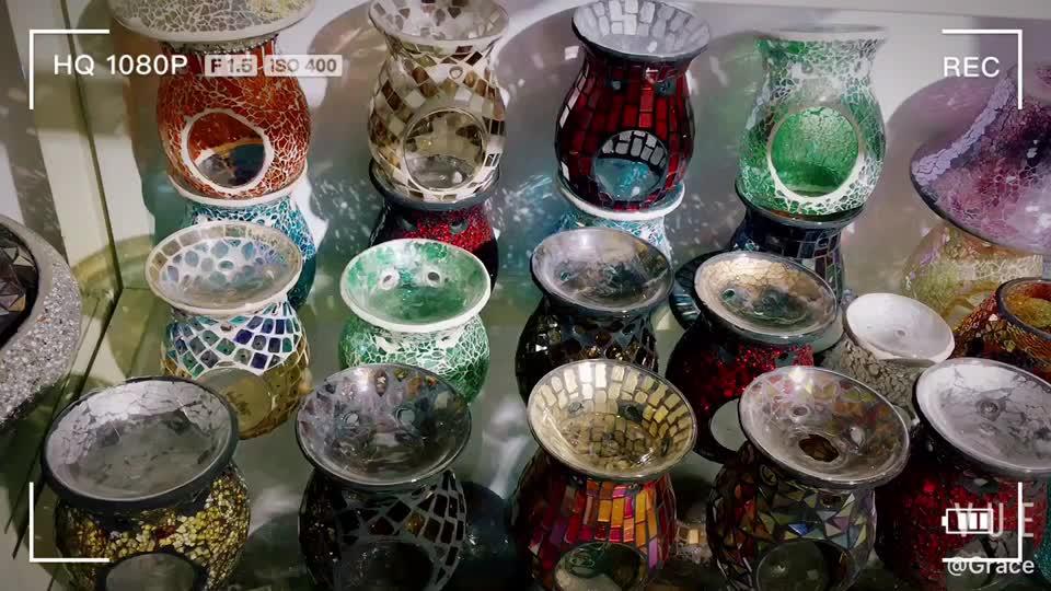 Wholesale Unique Mosaic Glass Fragrance Oil Incense Burner