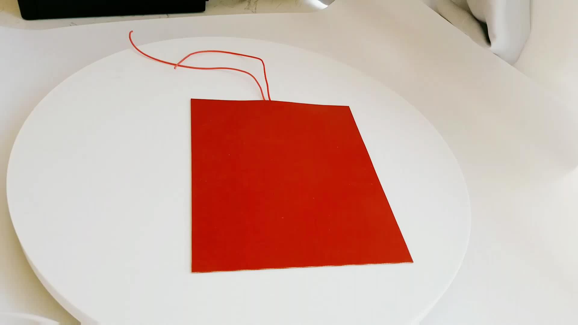 Duopu Công Nghiệp Dính Linh Hoạt Silicone Cao Su Nóng 220 V Yếu Tố Sưởi Ấm Cho Trống Sưởi Ấm Với Cặp Nhiệt Điện