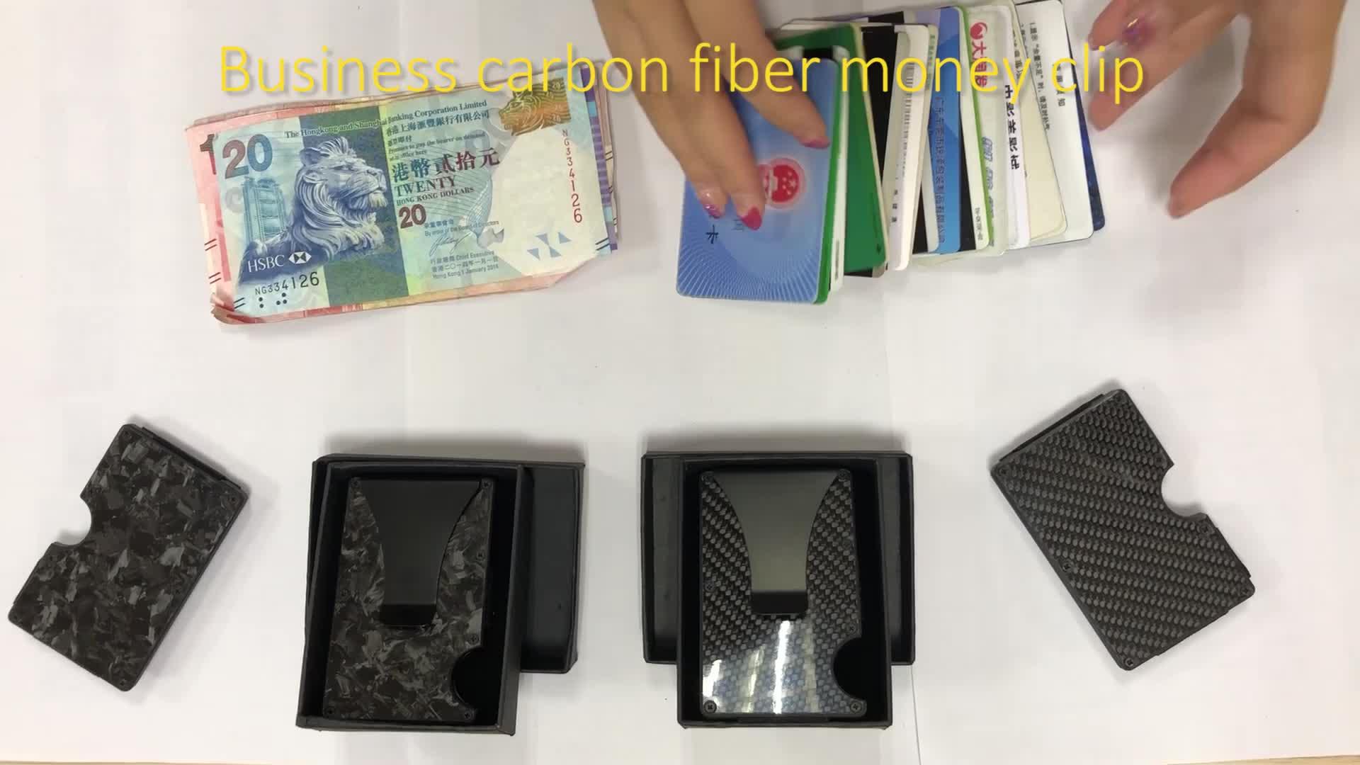 Neue Business tasche Online verschiffen schwarz magnetische geschmiedet carbon geld clip für brieftasche männer smart geldbörse carbon brieftasche