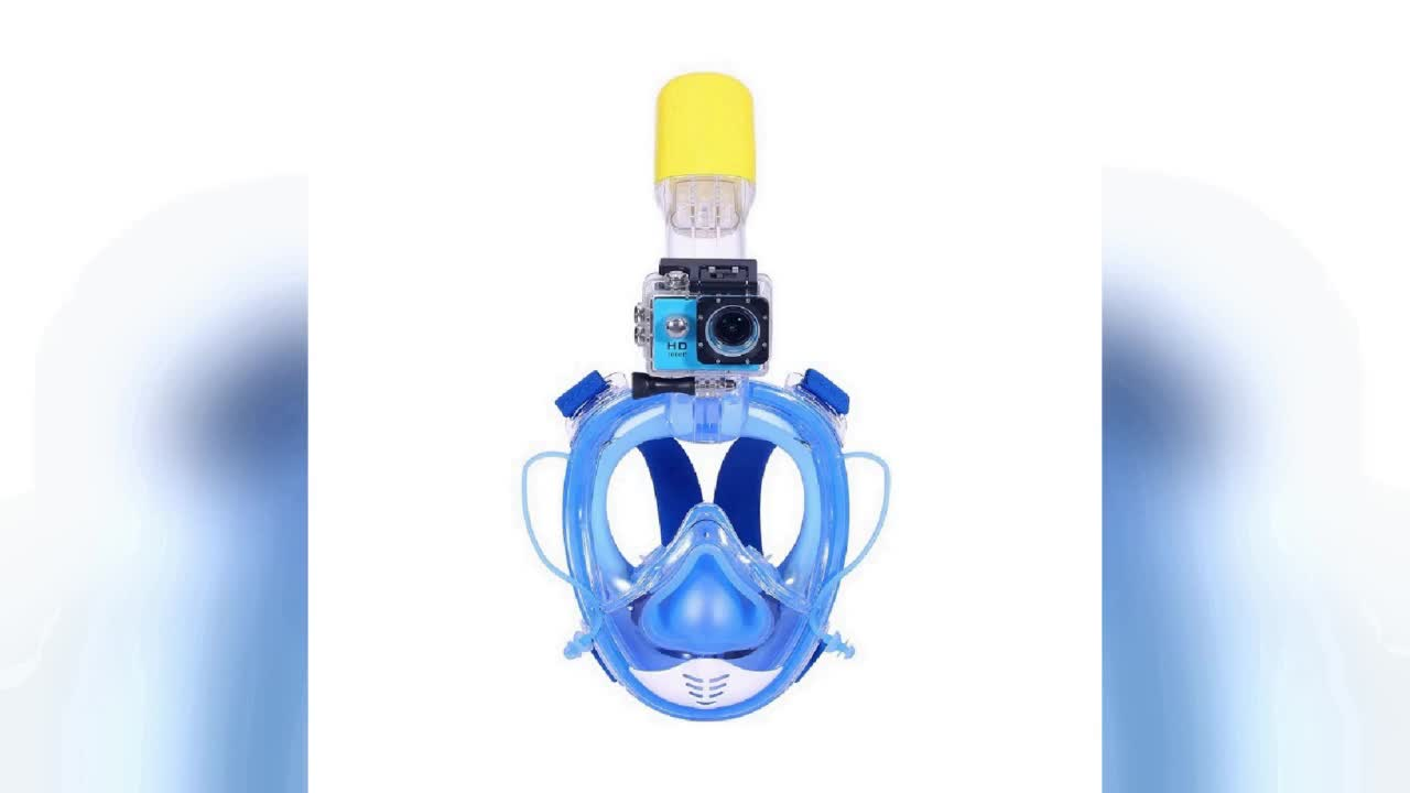 2019 venda quente acessórios de mergulho melhor máscara e snorkel set RKD 180 design vista aérea snorkel máscara com mergulho notícias