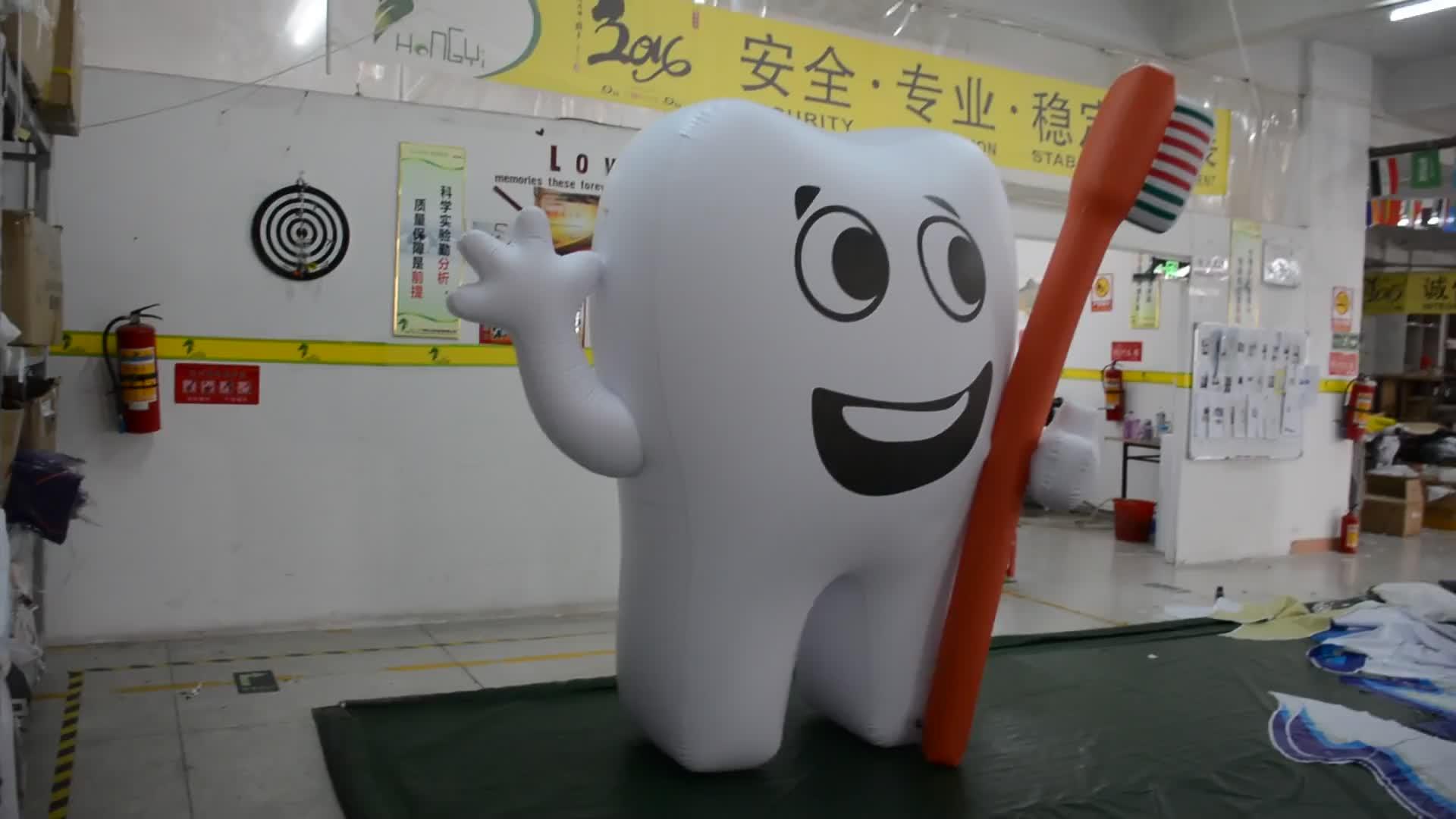 3 M Hohen Aufblasbaren Zähne Form Aufblasbare Helium Ballon