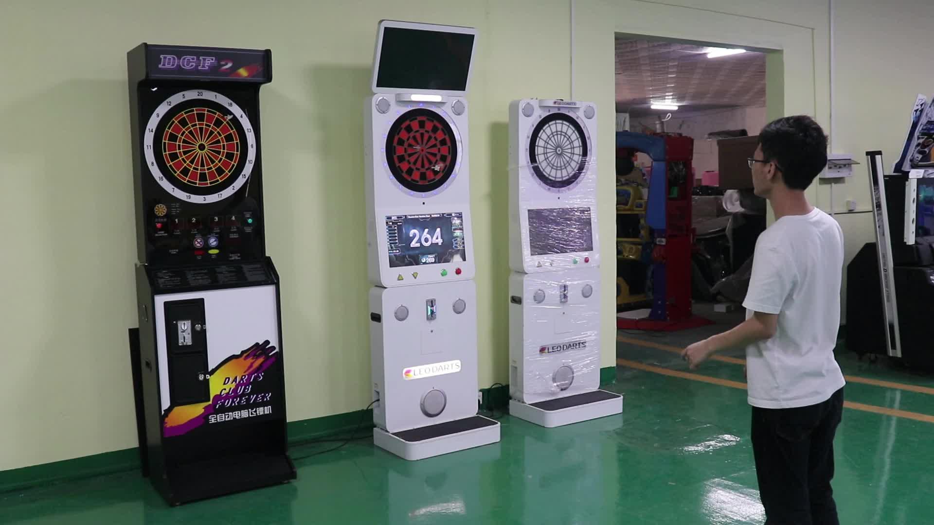 מכירה לוהטת מקורה ספורט דארט מועדון מטבע מופעל אלקטרוני חצים לוח וידאו משחק מכונת