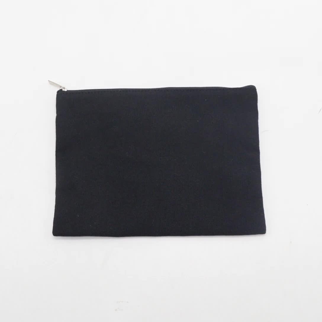 Proveedor de China precio barato de alta calidad lienzo embrague bolso de maquillaje bolsa de cosméticos