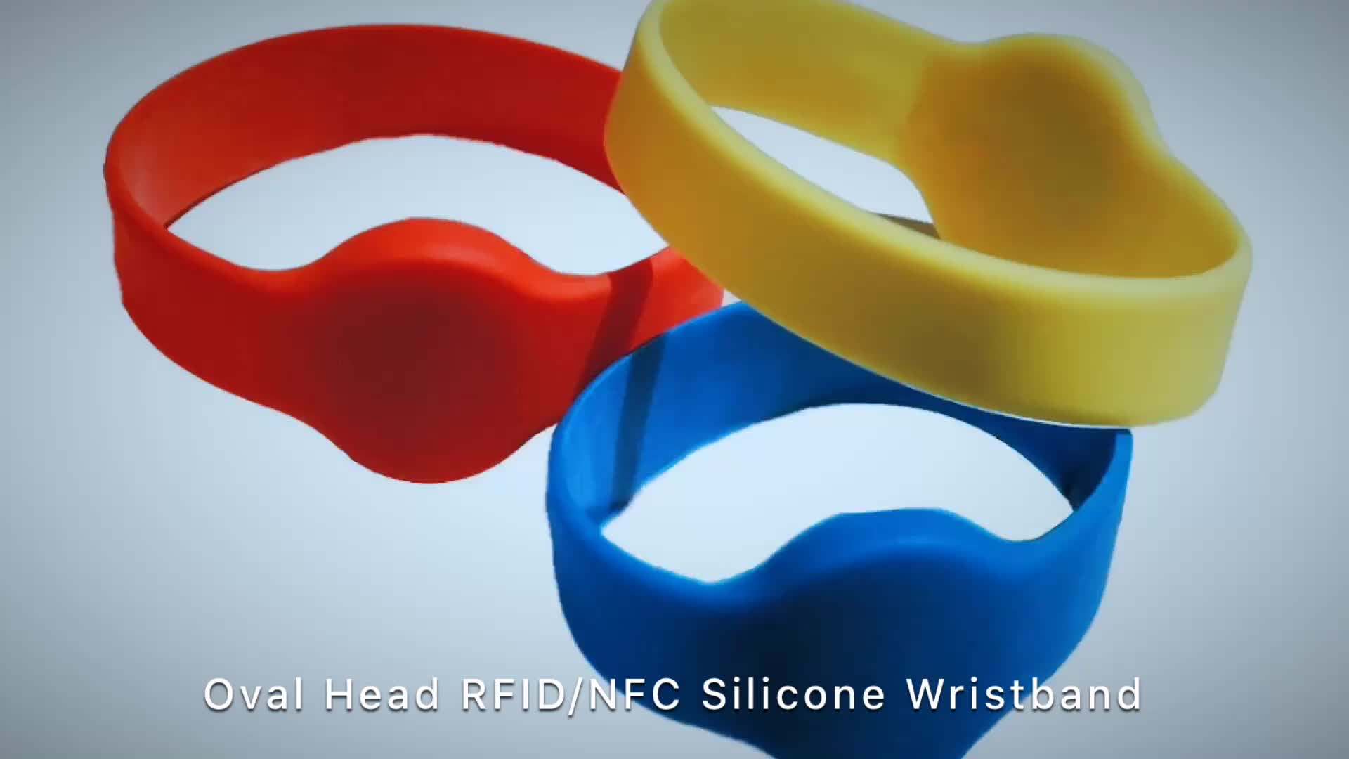 New Free Samples F08 High Frequency Interface RFID Silicone Wristband